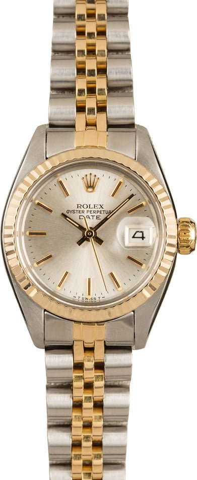 Pre Owned Rolex Date 6917 Silver Index Dial