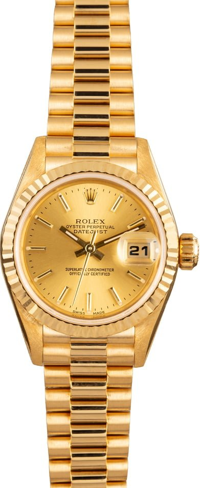 Pre Owned Rolex Ladies President 79178 Champagne