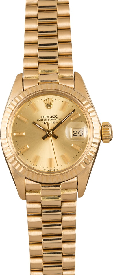 Pre-Owned Rolex Ladies President 6917