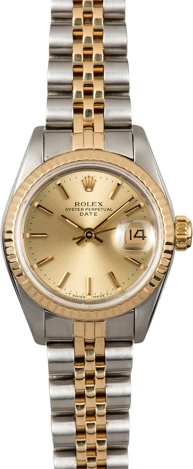 Datejust Ladies Rolex 69173 Champagne Dial