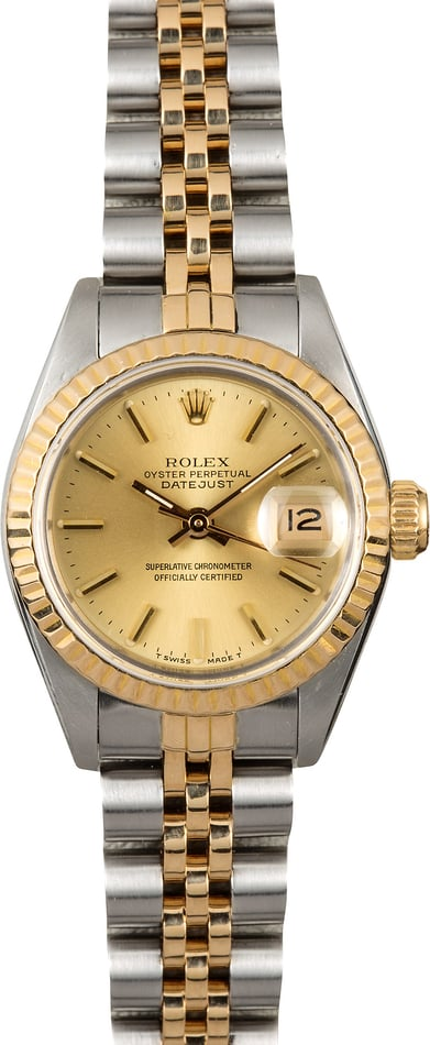 Datejust Lady Rolex 69173 Champagne Dial
