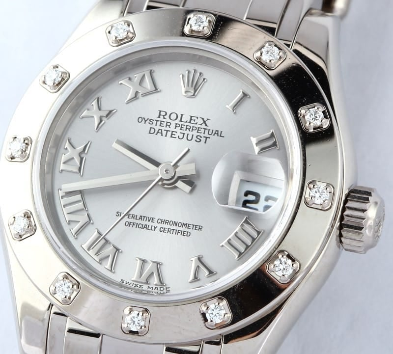 104557 X-1 Lady Rolex Pearlmaster Mother Of Pearl