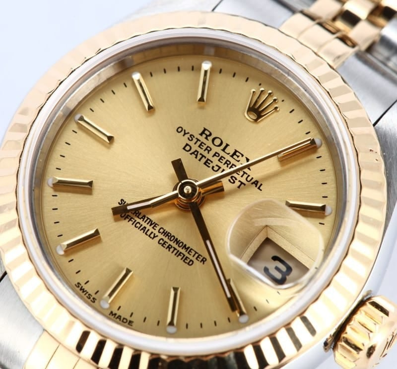 Ladies Rolex Oyster Perpetual Stainless and Gold Watch 79173