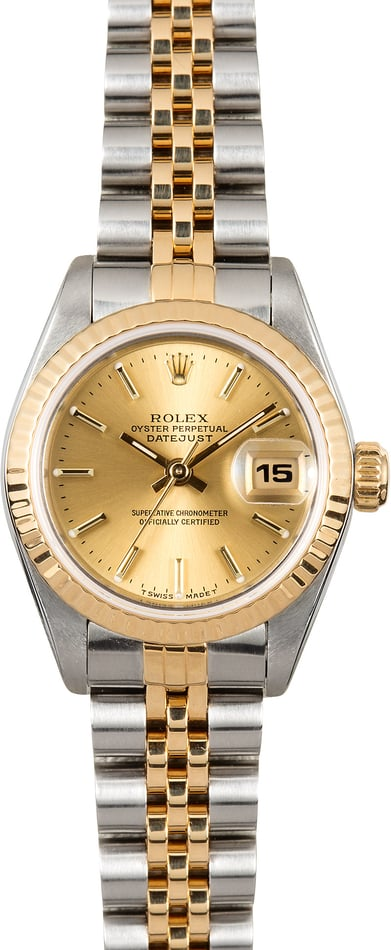 Ladies 26MM Rolex Datejust 69173 Champagne
