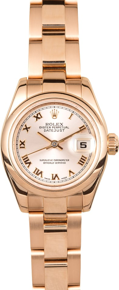 Ladies Datejust 179165 Rose Gold