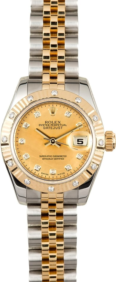 Ladies Datejust 179313 Diamond Mother Of Pearl