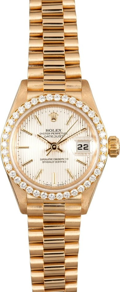 Ladies Diamond Rolex Datejust 69178