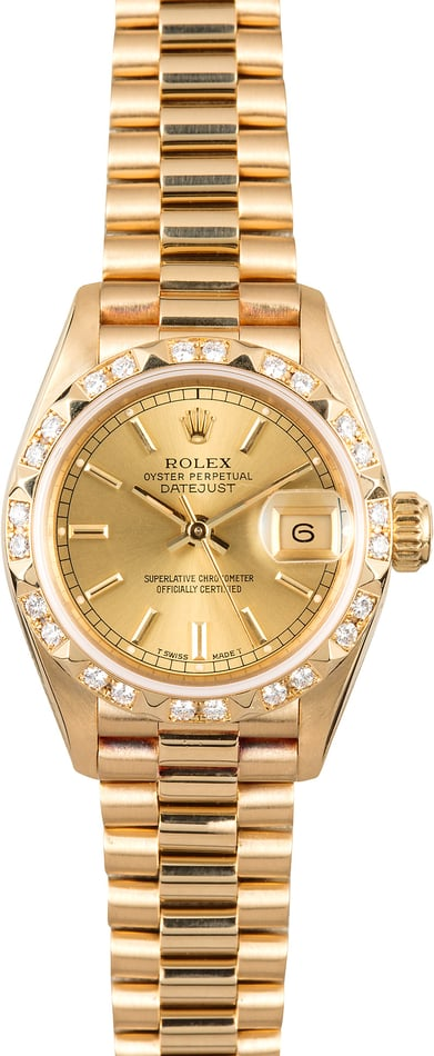 Ladies Diamond Rolex President 69258