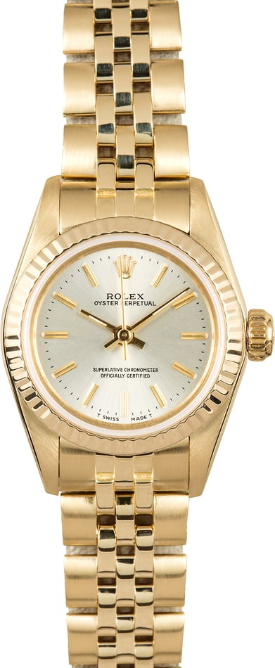 Ladies Gold Rolex Oyster Perpetual 67197