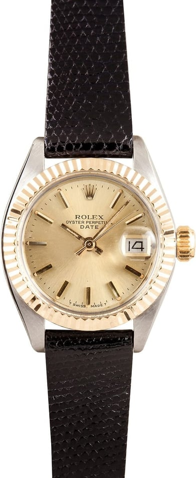 Ladies Rolex Date 6916 Two Tone