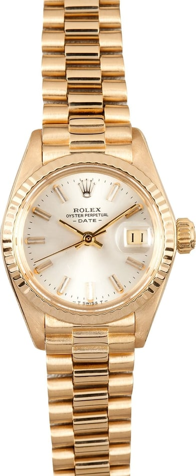Rolex Ladies Gold Date 6917