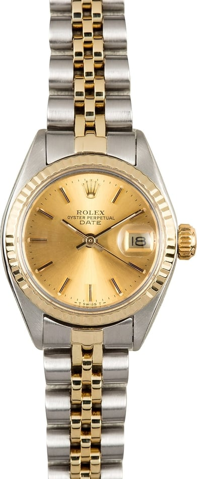 Ladies Rolex Date 6917 Champagne Dial