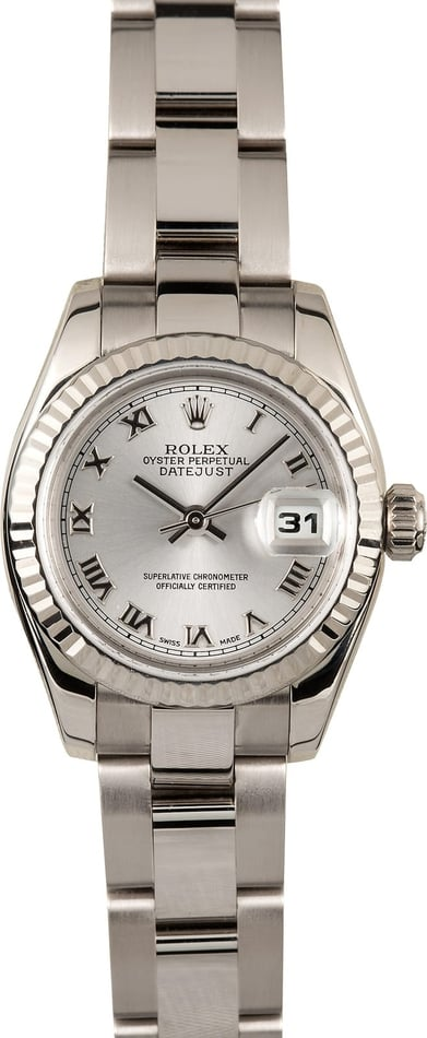 Ladies Rolex Datejust 179179 White Gold
