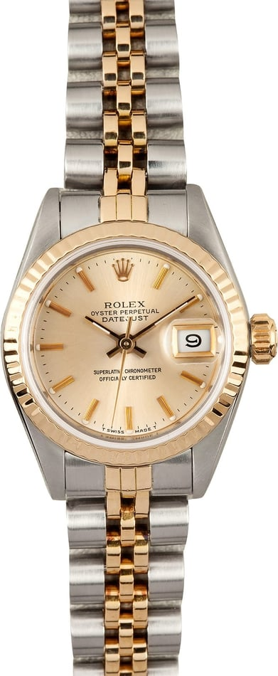 Rolex Ladies Datejust 69173 Champagne