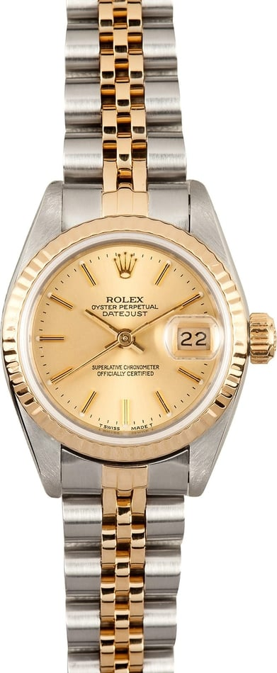 Used Ladies Rolex Two Tone Datejust 69173
