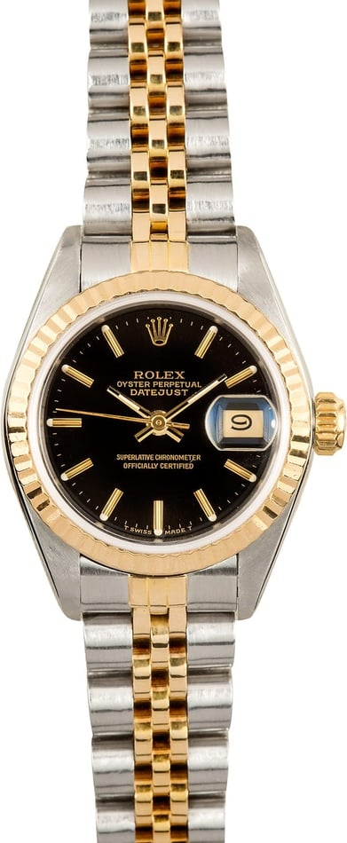 Lady Rolex Datejust 69173 Black Dial