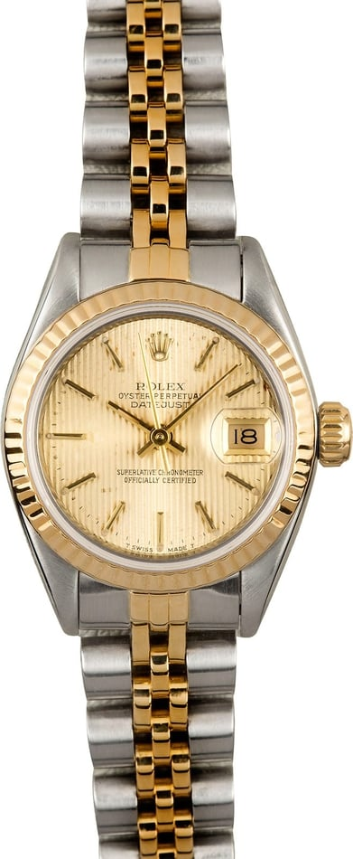 Ladies Rolex Datejust 69173 Champagne Tapestry
