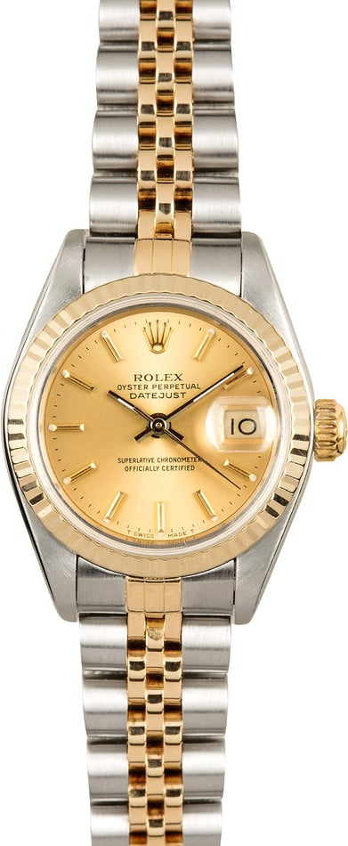 Ladies Rolex Datejust 69173 Jubilee Bracelet