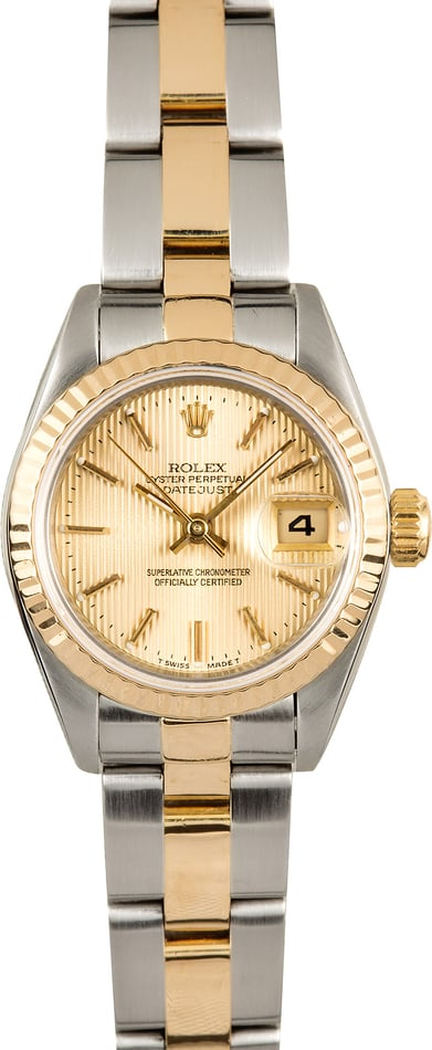 Ladies Rolex Datejust 69173 Oyster Certified Pre-Owned