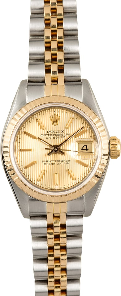 Ladies Rolex Datejust 69173 Tapestry Dial