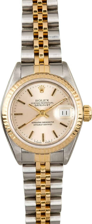 Ladies Rolex Datejust 69173 Two Tone Index