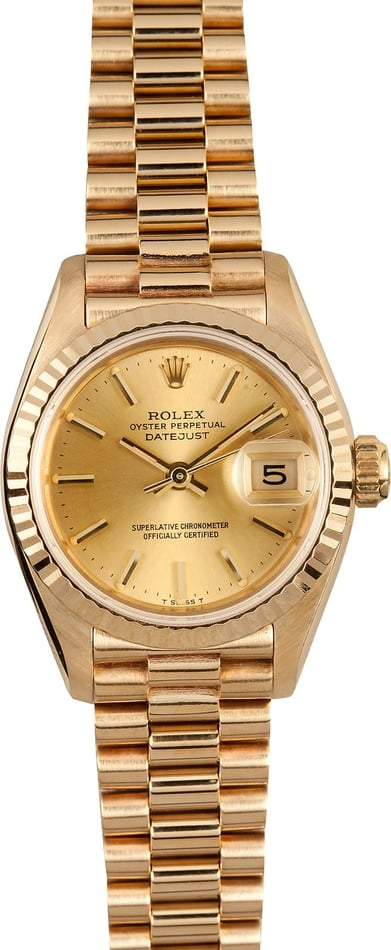 Ladies Rolex Datejust President 69178