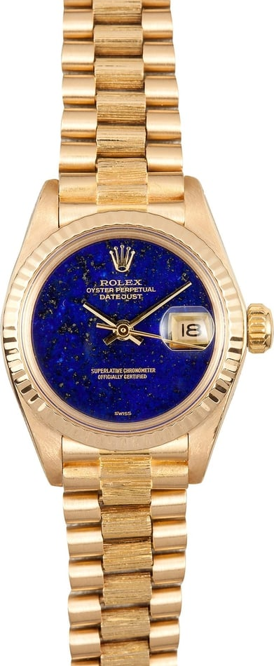 Ladies Gold Datejust Lapis Dial 6927