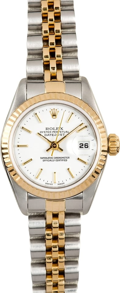Rolex Datejust Ladies 79173 White Dial