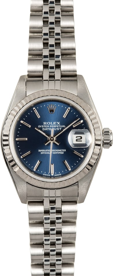 Ladies Rolex Datejust 79174 Blue Dial