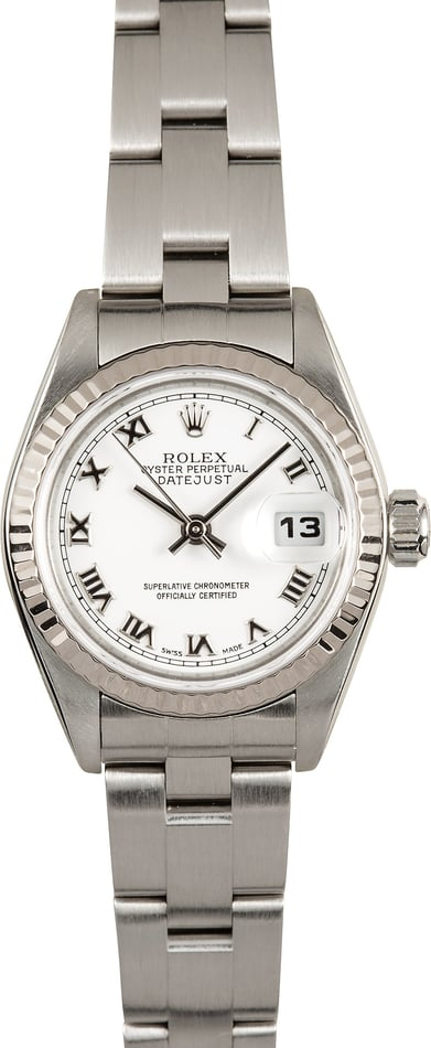 Ladies Rolex Datejust 79174 White Roman Dial
