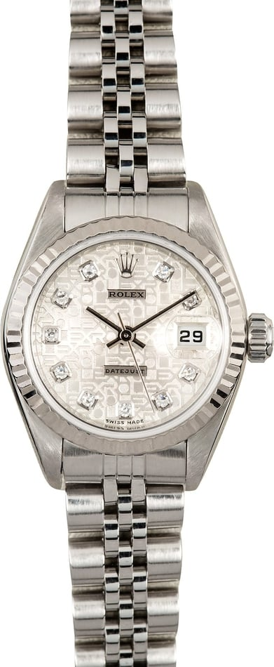 Ladies Rolex Datejust 79174 Jubilee Diamond