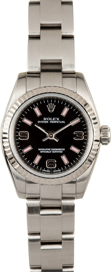 Ladies Rolex Oyster Perpetual 176234 black