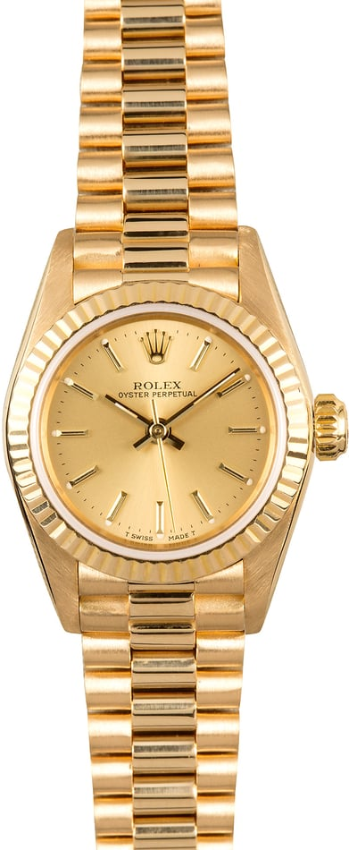 Ladies Rolex Oyster Perpetual 67198 President