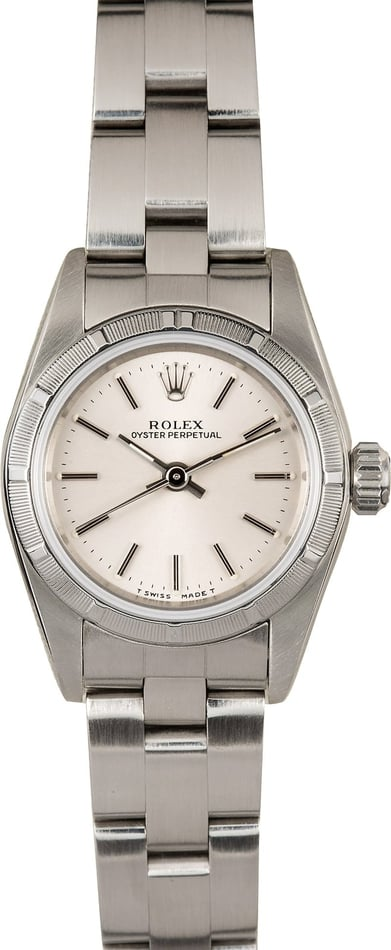 Ladies Rolex Oyster Perpetual 67230 Silver