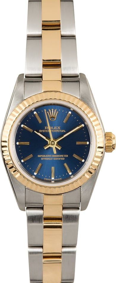Ladies Rolex Oyster Perpetual 76193 Blue