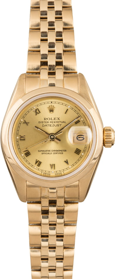 Pre Owned Rolex Datejust 69168 Honeycomb Band