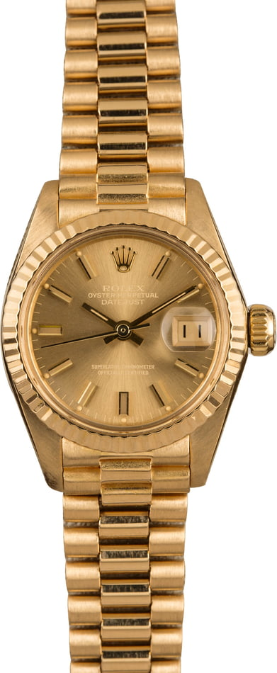 Pre-Owned Rolex Ladies President 6917 Champagne Dial