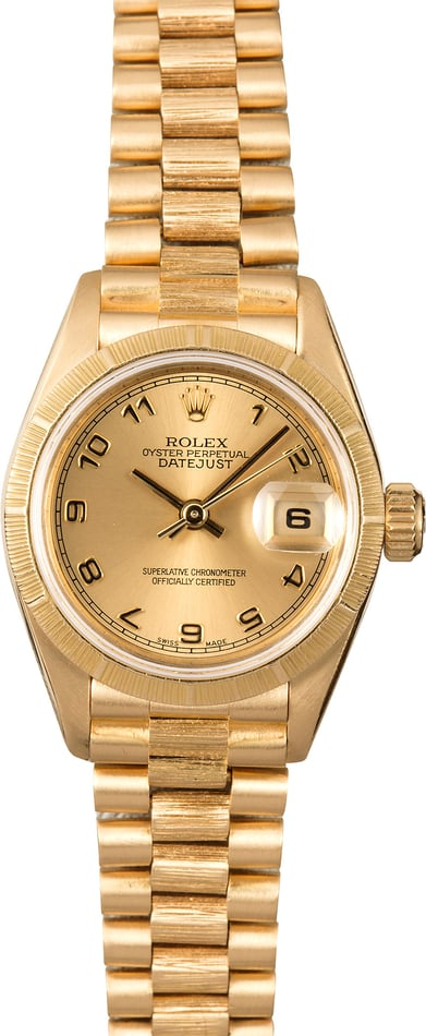 Ladies Rolex Presidential Datejust 69278 Bark
