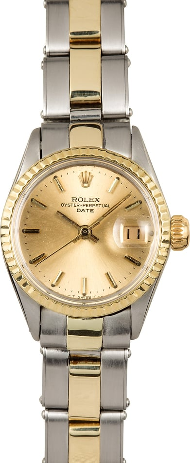 Ladies Rolex Two-Tone Date 6516
