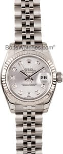 Ladies Used Rolex Oyster Perpetual 179174 MOP Diamond Dial