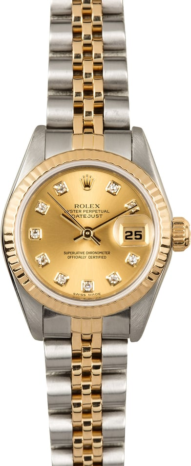 Lady-Datejust Rolex 69173 Diamond Dial