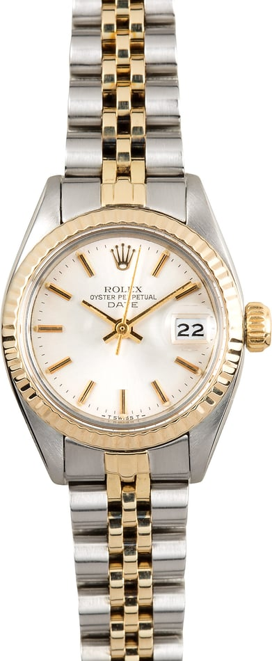 Lady Rolex Date Oyster Perpetual Steel 6917