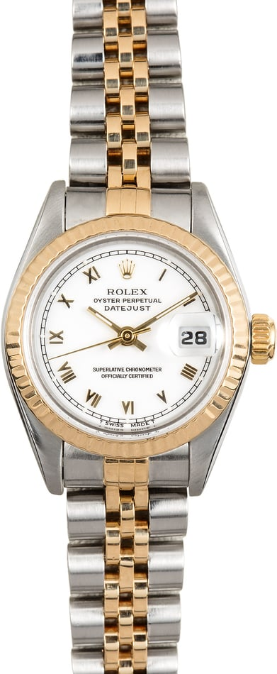 Lady Rolex Datejust 69173 White Dial