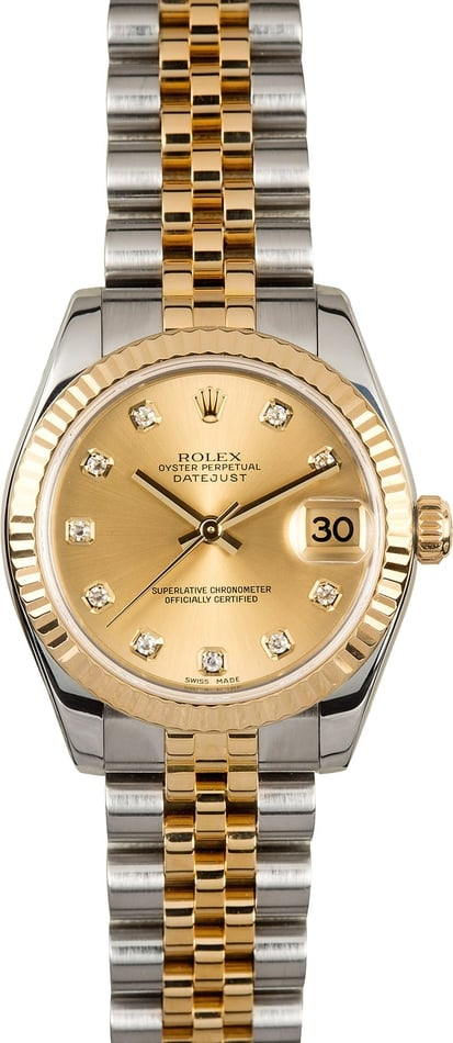 Mid-Size Rolex Datejust 178273 Diamond