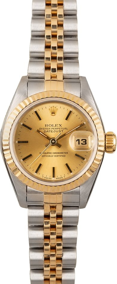 PreOwned Rolex Datejust 69173 Champagne Dial