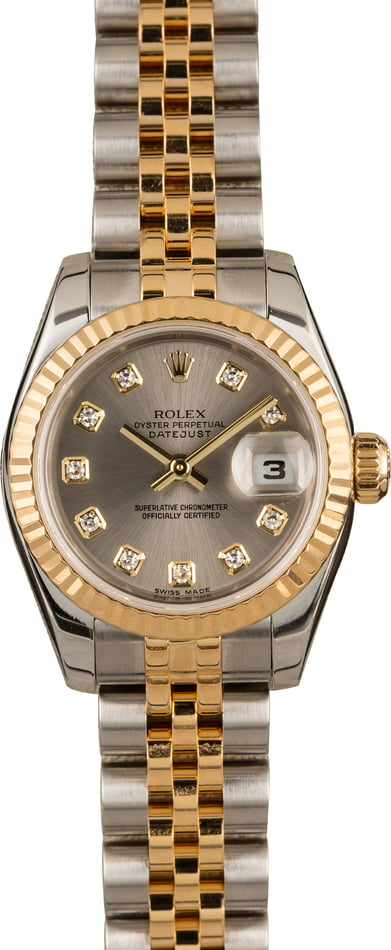 Pre-Owned Rolex Datejust 179173 Diamond Dial