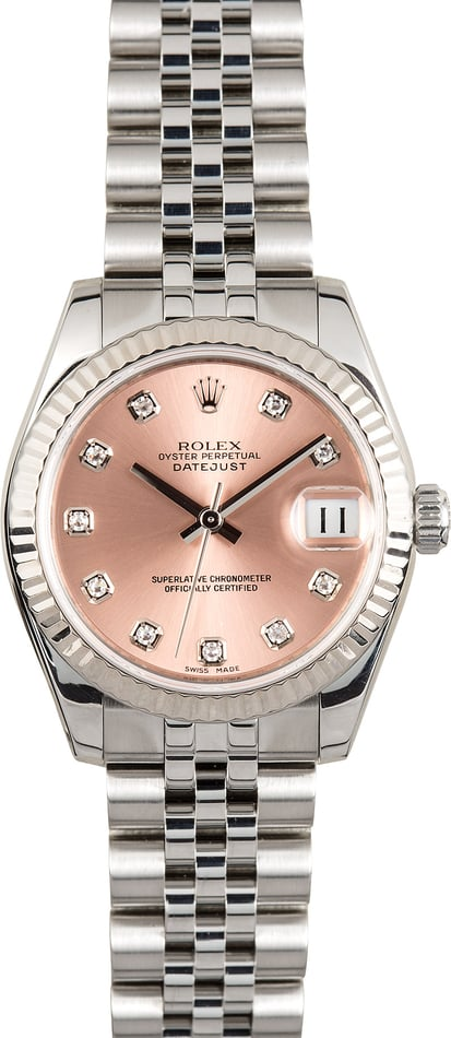 Rolex 31MM Datejust 178274 Pink Diamond
