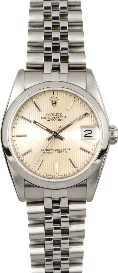 Rolex 31mm Datejust 68240 Tapestry Dial