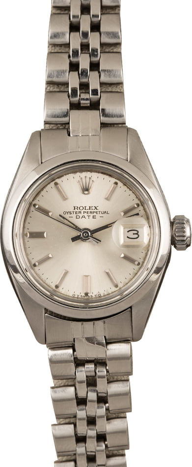 Pre-Owned Rolex Ladies Date 6916 Fold Over Jubilee T
