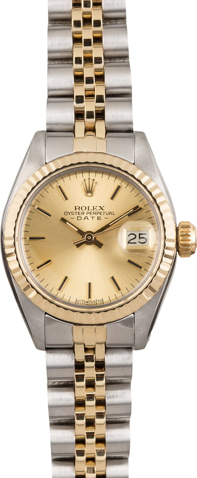 Pre Owned Rolex Date 6917 Two Tone Jubilee